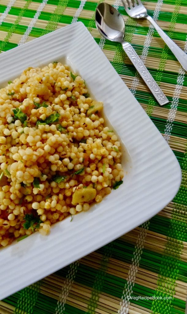 sabudana khichdi recipe | sago khichdi recipe | how to make sabudana khichdi for navratri fasting vrat