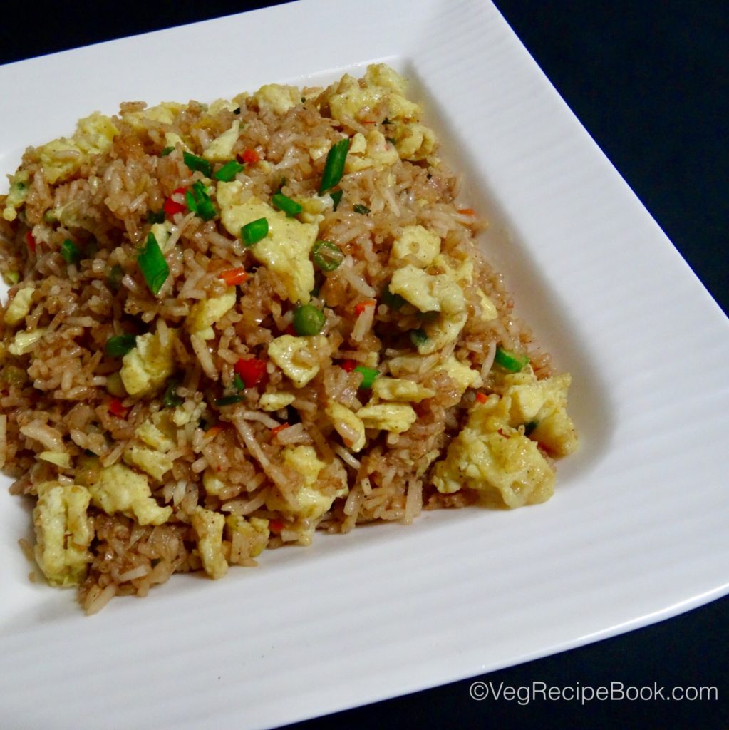 egg fried rice recipe - indo chinese style | egg rice recipe | how to make egg fried rice recipe