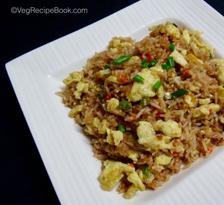 egg fried rice recipe – indo chinese style | egg rice recipe | how to make egg fried rice recipe