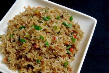 veg fried rice recipe | indo chinese style fried rice recipe | how to make vegetable fried rice