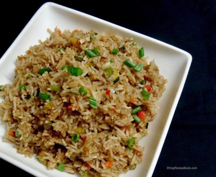 veg fried rice recipe   indo chinese style fried rice recipe   how to make vegetable fried rice
