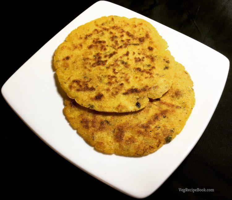 methi makka paratha recipe   methi makai paratha recipe   corn flour paratha recipe