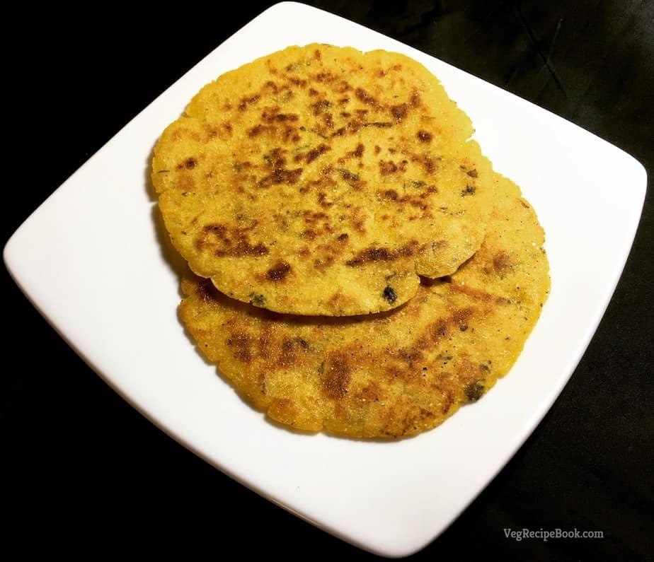 methi makka paratha recipe | methi makai paratha recipe | corn flour paratha recipe