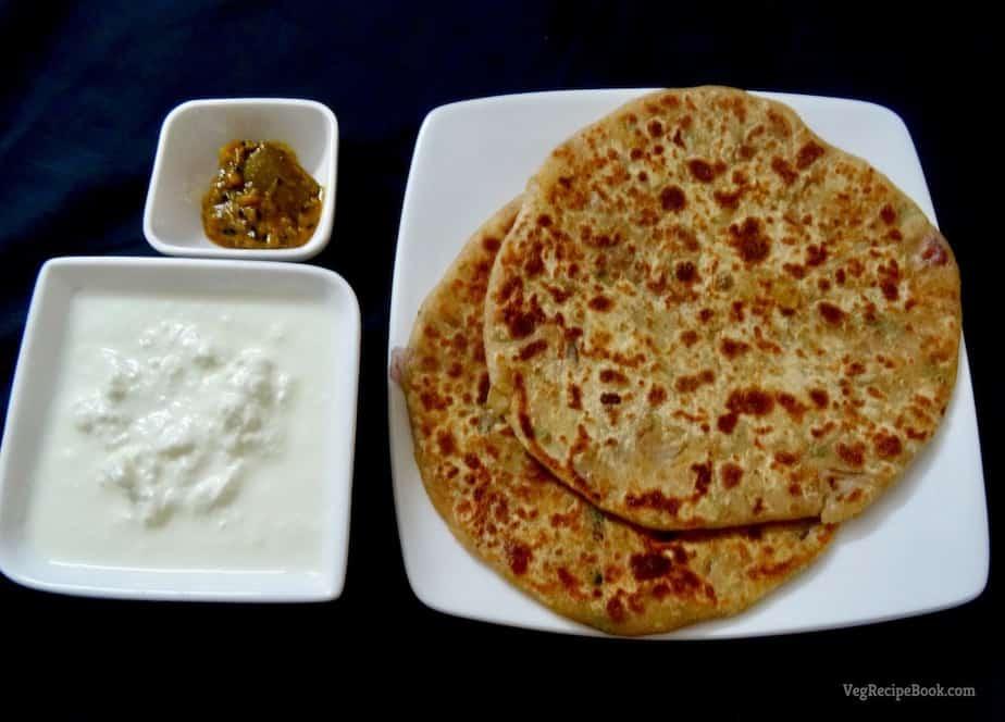 aloo pyaaz paratha recipe | aloo pyaaj paratha | aloo paratha | how to make aloo paratha recipe